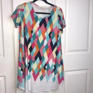 Boutique Peach Love Sz Med shift dress w/ pockets